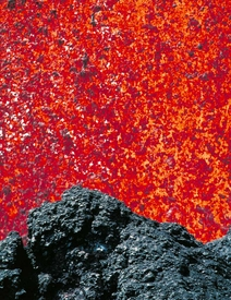 Close Up Eruption