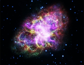 Colorful Crab Nebula M1