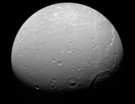 Crater on Dione