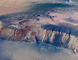 Echus Chasma on Mars