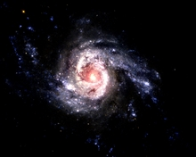Galaxy Blazes with Star Formation