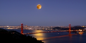 Golden Gate Full Moon