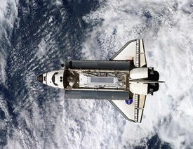 ISS Atlantis Shuttle Open