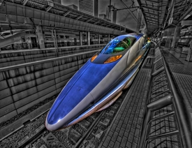 Japanese Fastest Bullet Train HDR
