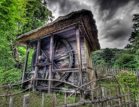 Japanese Watermill HDR