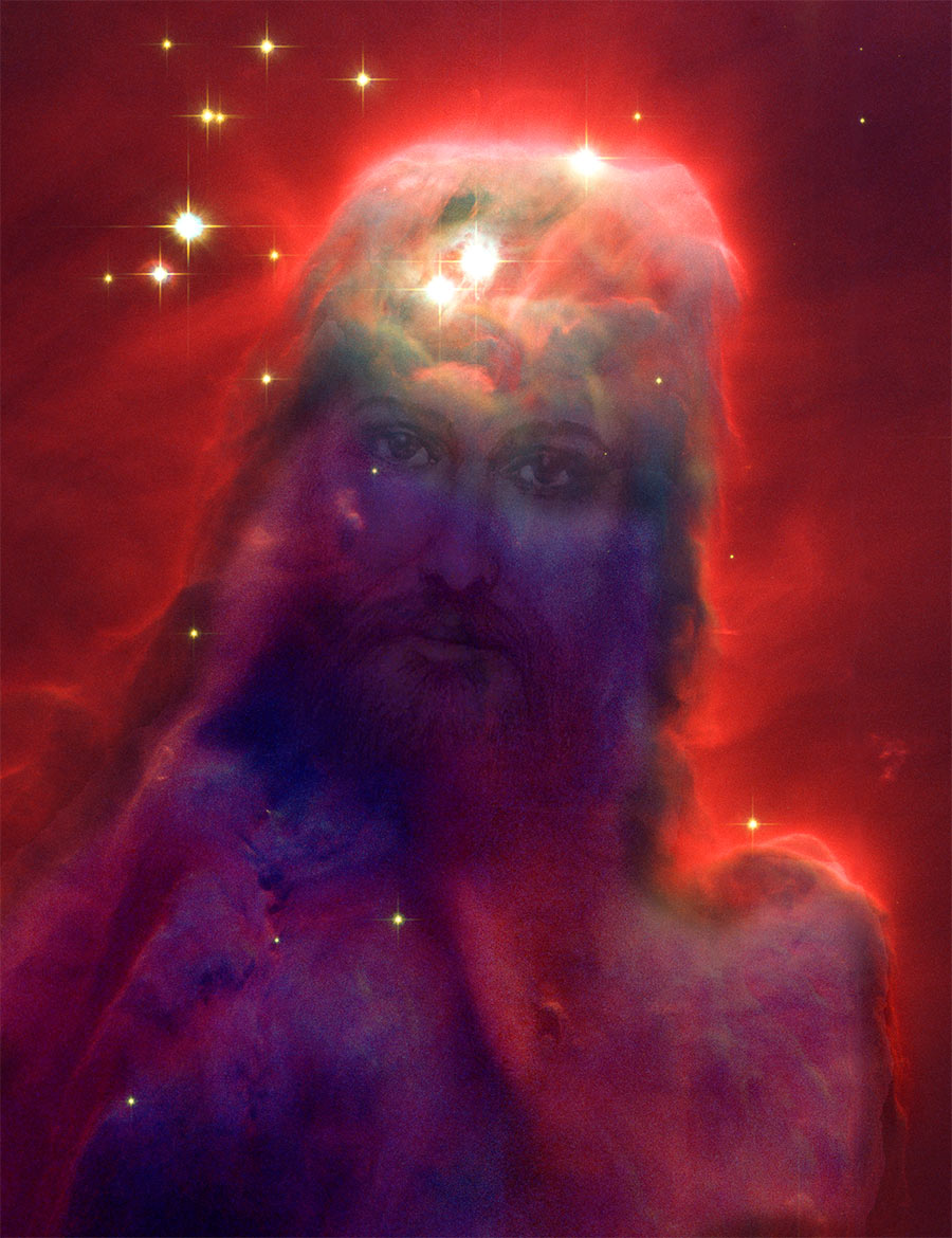 jesus nebula face of jesus