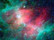 M16 Eagle Nebula Photo in Infrared