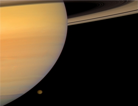 Saturn on Titan