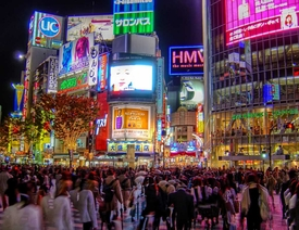 Shibuya at Night HDR