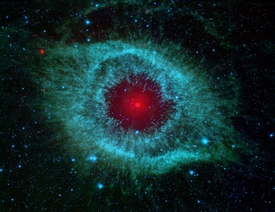 Spitzer Eye of God in Green