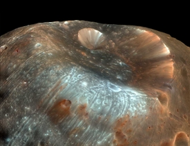 Stickney Crater on Phobos