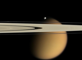 Titan in Saturn's Rings