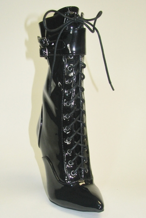 "4.5"" Stretch Patent Boot * FIERCE-111-SA"