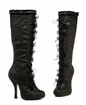 "4"" Satin Knee Boots * 423-TABATHA"