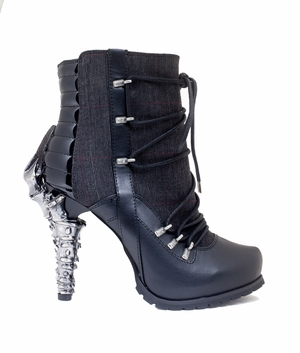 "5"" Biker Inspired Ankle Boots  * SHADE"