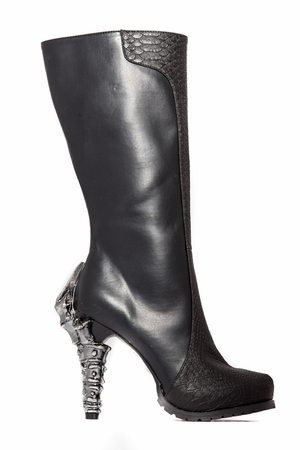 "5"" Knee High Biker Inspired Boots * WILLOW"