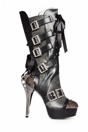 "5"" Knee High Steampunk Ankle Bootie * LIV"