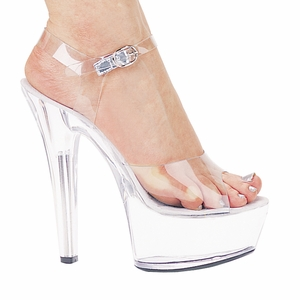 "6"" Clear Stiletto Heels * 601-BROOK"
