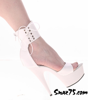 "6"" Heel Platform Back Zip/Side Lace Sanfal * 134"