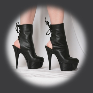"""6"""" Lace Back Ankle Boot * BLISS-4"""