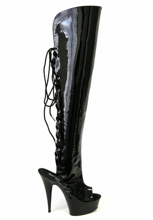 "6"" Lace Back Thigh Boot * TAMMY-5-P"