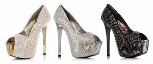 "6"" Studded Peep Toe Pump  * 607-SUZETTE"