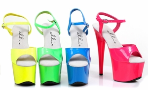 "7"" Neon Stiletto Sandal * 709-SOLARIS"