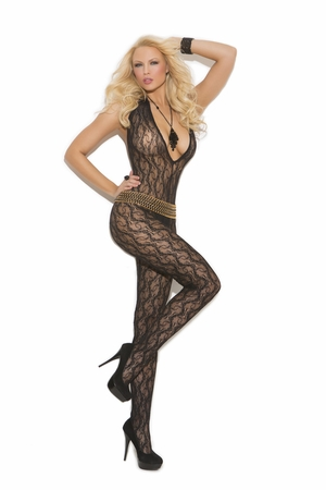 Deep V Lace Bodystocking * 1608