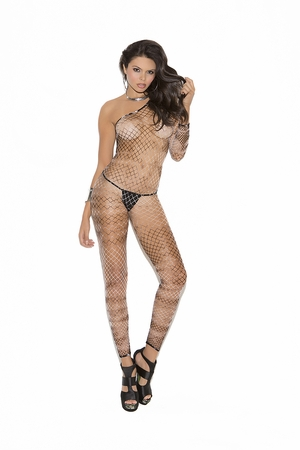 Diamond Net One Shoulder Bodystocking * 8951