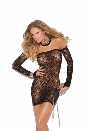 Diamond Pattern Bandeau Dress * 8742