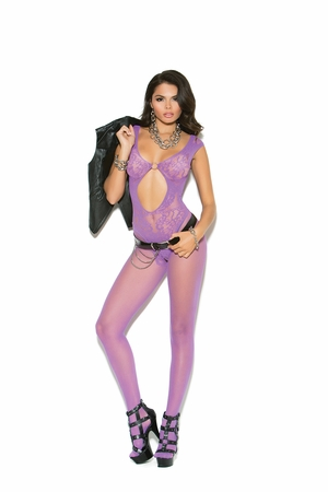 Fishnet and Lace Bodystocking * 81146