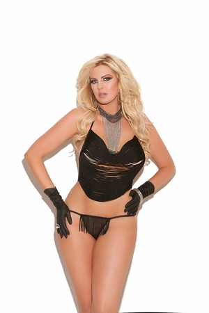 Fringe Cami Top And G-String * 8646Q