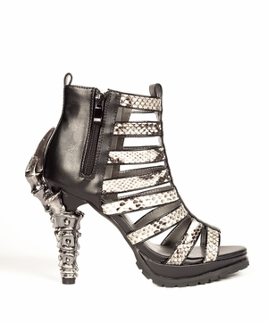 Goth Inspired Heels With Inner Zipper * LEORA