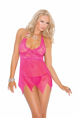 Lace And Mesh Babydoll * 4078