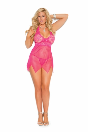 Lace And Mesh Babydoll * 4078X