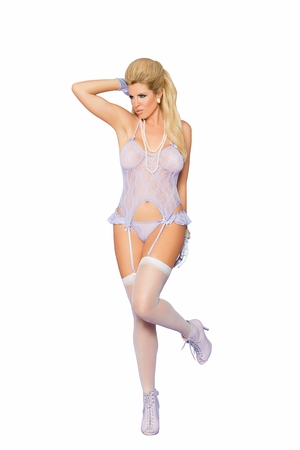 Lace Camisette and G-String * 88036Q
