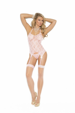 Lace Camisette, G-String And Stockings * 1152