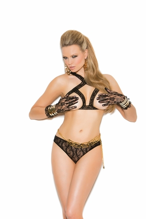 Lace Cupless Bra and Panty * 81208