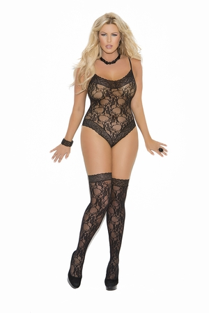 Lace Teddy And Thigh-Hi's * 1541Q