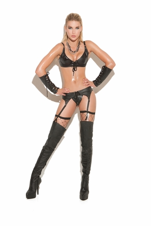Lace Up Leather Garter Belt * L9231