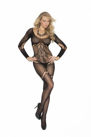 Long Sleeve Crochet Bodystocking * 1289