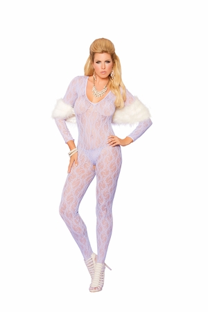 Long Sleeve Lace Bodystocking * 81294Q