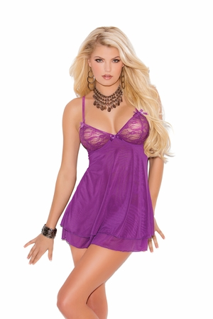 Mesh Double Layered Chemise * 4087