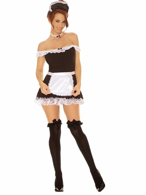 Opaque Thigh Hi With Satin Bow * 1708