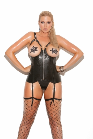 Open Bust Leather Corset * L3131X