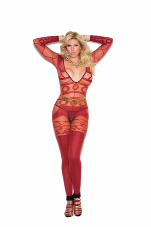 Sheer and Opaque Bodystocking * 81161Q