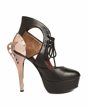 Steampunk Inspired Double Sided Metal Heel * ASMARA