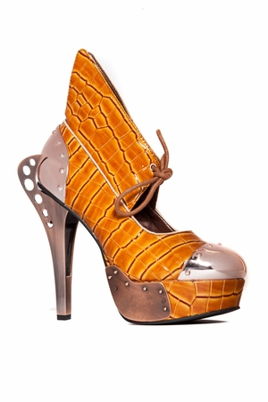 Steampunk Inspired Double Sided Metal Heel * ASTRO