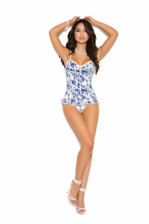 Stretch Floral Bustier * 5433X