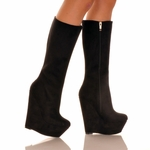 Wedge Knee Boot * HALEY-21